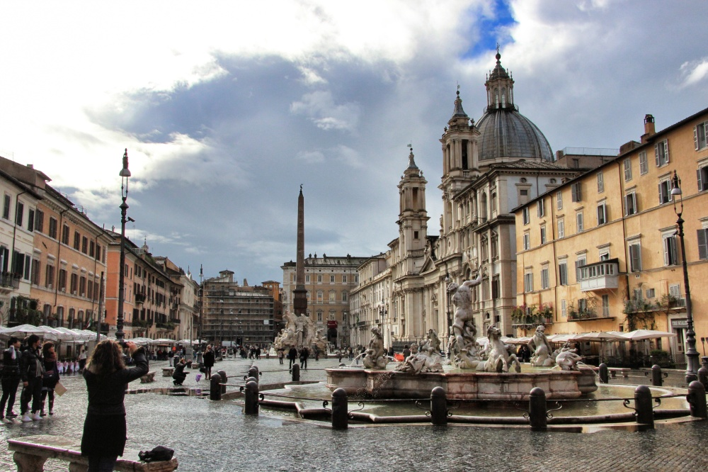 The Piazza Navona is Rome's most famous square