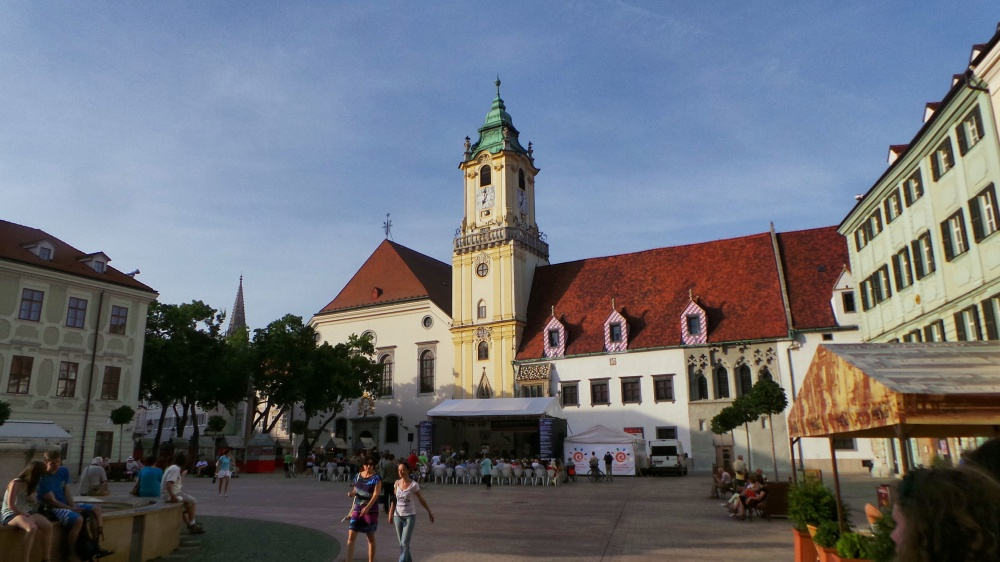 The Old Town hall sits on the main square